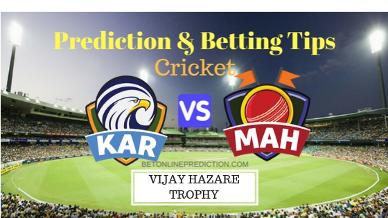 Karnataka vs Maharashtra Round 2, Elite Group A ODI Prediction and Free Betting Tips 20th September 2018