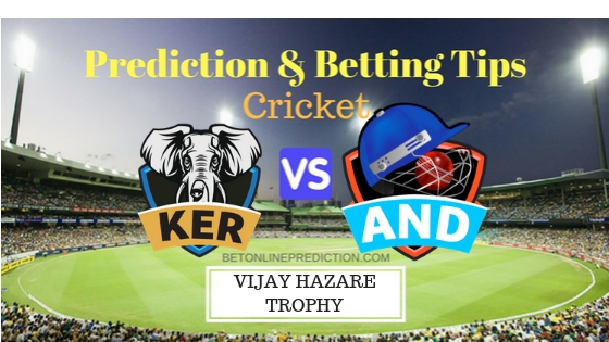 Kerala vs Andhra Round 1, Elite Group B ODI Prediction and Free Betting Tips 19th September 2018