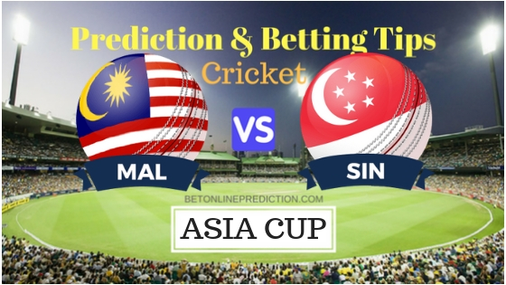 Malaysia vs Singapore 13th ODI Prediction and Free Betting Tips 4th September 2018