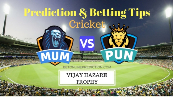 Mumbai vs Punjab Round 7, Elite Group A ODI Prediction and Free Betting Tips 28th September 2018