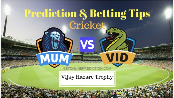Mumbai vs Vidarbha Round 5,Elite Group A ODI Prediction and Free Betting Tips 24th September 2018