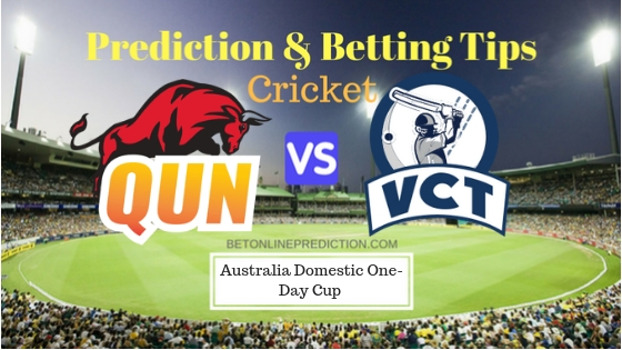 Queensland vs Victoria 1st ODI Prediction and Free Betting Tips 16th September 2018