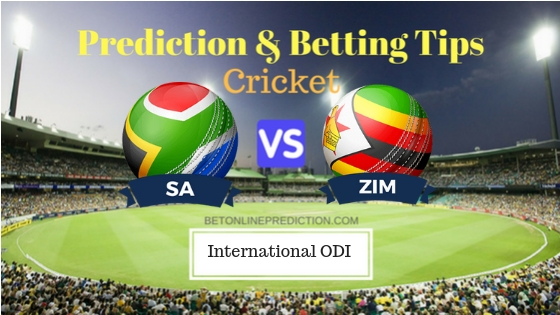 South Africa vs Zimbabwe 1st ODI Prediction and Free Betting Tips 30th September 2018