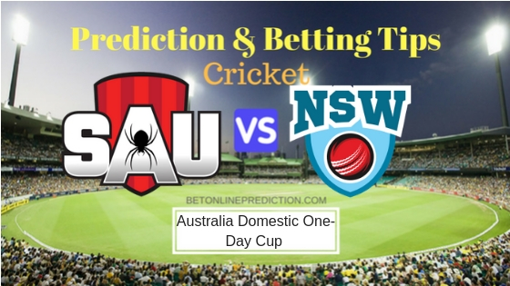 South Australia vs New South Wales 4th ODI Prediction and Free Betting Tips 20th September 2018