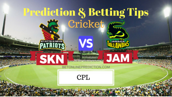 St Kitts and Nevis Patriots vs Jamaica Tallawahs 25th T20 Prediction and Free Betting Tips 3rd September 2018