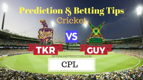 Trinbago Knight Riders vs Guyana Amazon Warriors Qualifier 1 T20 Prediction and Free Betting Tips 12th September 2018 (1)