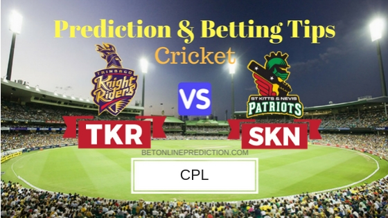 Trinbago Knight Riders vs St Kitts and Nevis Patriots Qualifier 2 T20 Prediction and Free Betting Tips 15th September 2018