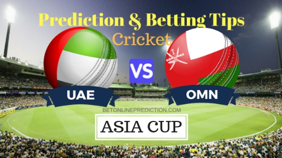 United Arab Emirates vs Oman 14th T20 Prediction and Free Betting Tips 4th September 2018