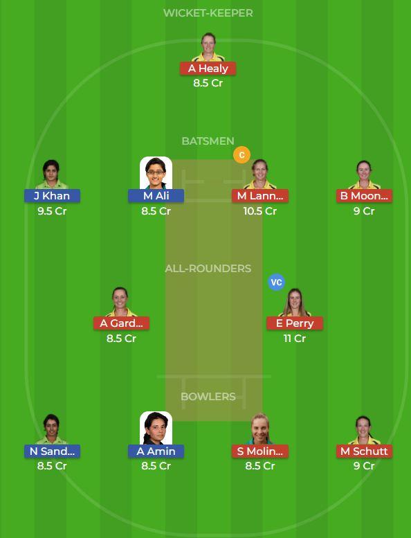 Australia Women vs Pakistan Women 1st ODI Dream11 Team, Team News, Winner Prediction 18th October 2018