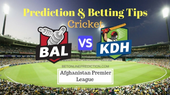 Balkh Legends vs Kandahar Kings 19th T20 Team, Team News, Winner Prediction 18th October 2018