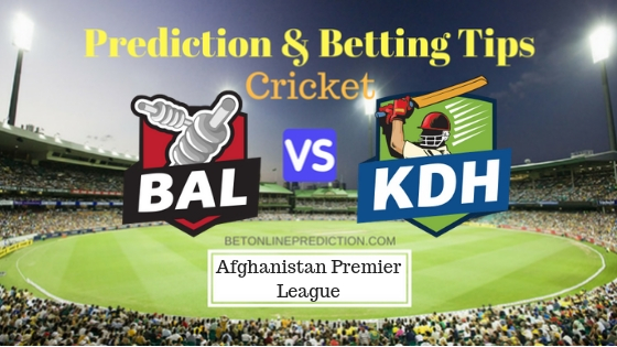 Balkh Legends vs Kandahar Kings 5th T20 Prediction and Free Betting Tips 07th October 2018