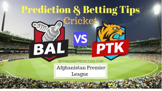 Balkh Legends vs Paktia Royals 12th T20 Prediction and Free Betting Tips 13th October 2018