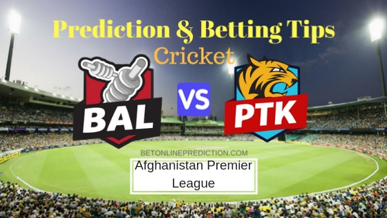 Balkh Legends vs Paktia Royals 7th T20 Prediction and Free Betting Tips 10th October 2018