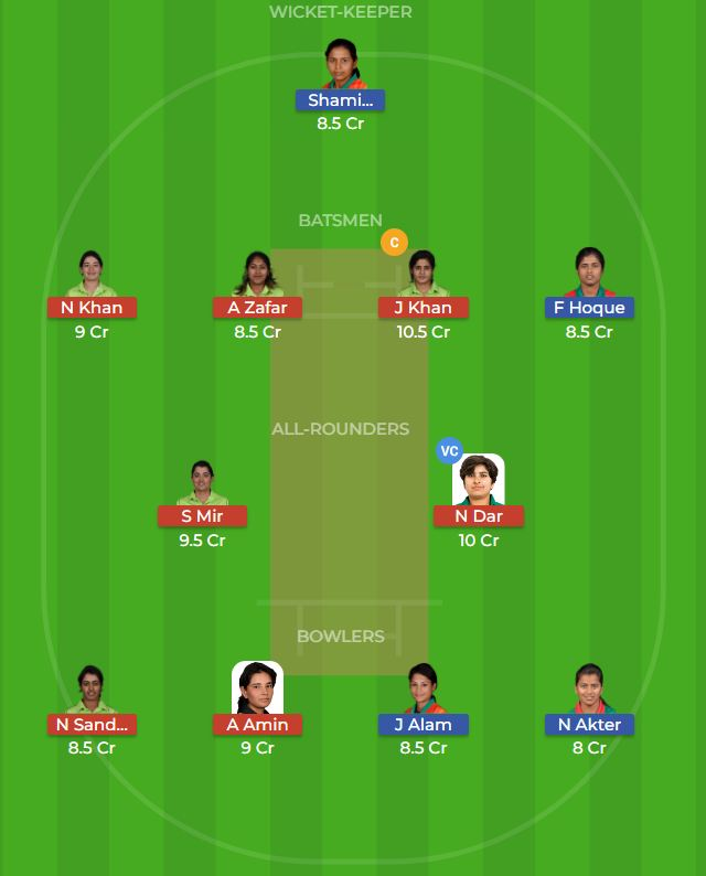 Bangladesh Women vs Pakistan Women 3rd T20 Dream11 Prediction 5th October 2018