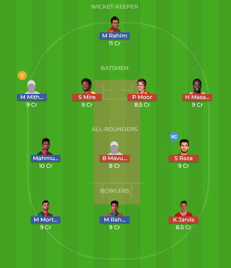 Bangladesh vs Zimbabwe 1st ODI Dream11 Team, Team News, Winner Prediction 21th October 2018