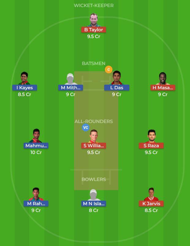 Bangladesh vs Zimbabwe 2nd ODI Dream11 Team, Team News, Winner Prediction 24th October 2018
