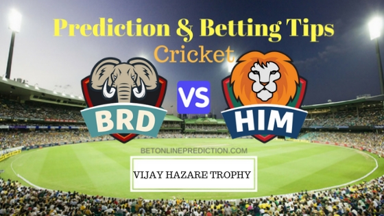 Baroda vs Himachal Pradesh Round 10, Elite Group A ODI Prediction and Free Betting Tips 4th October 2018