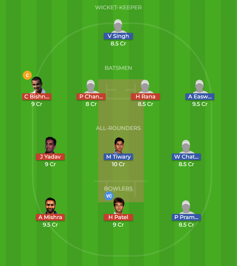 Bengal vs Haryana Round 12, Elite Group C ODI Dream11 Prediction 5th October 2018