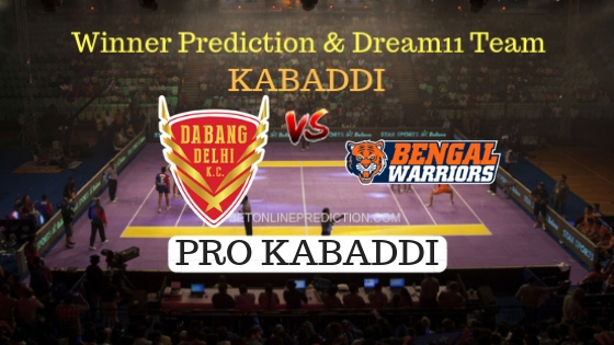 Dabang Delhi vs Bengal Warriors 27th Team, Team News, Winner Prediction 21th October 2018