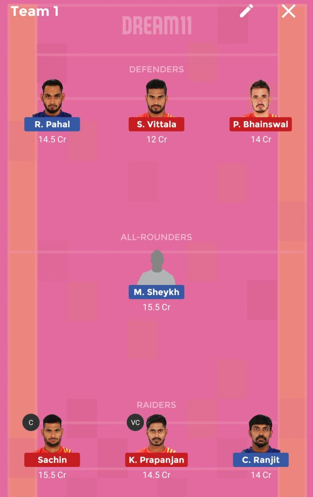 Dabang Delhi vs Gujarat FortuneGiants Dream11 Prediction 09th October 2018