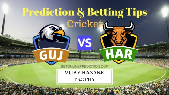 Gujarat vs Haryana Round 11, Elite Group C ODI Prediction and Free Betting Tips 3rd October 2018