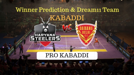 Haryana Steelers vs Dabang Delhi 21th Team, Team News, Winner Prediction 18th October 2018