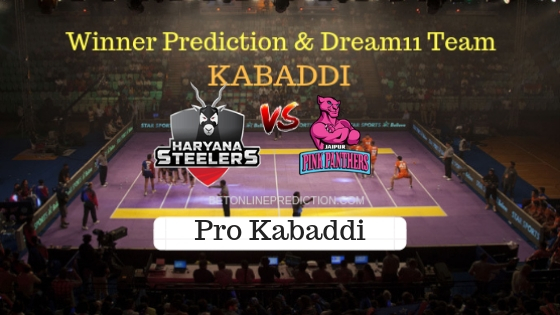 Haryana Steelers vs Jaipur Pink Panthers 1st Team, Team News, Winner Prediction 16th October 2018 (1)