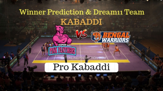 Jaipur Pink Panthers vs Bengal Warriors 35th Team, Team News, Winner Prediction 27th October 2018