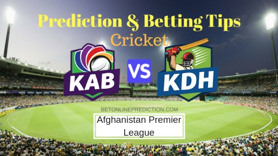 Kabul Zwanan vs Kandahar Kings 8th T20 Prediction and Free Betting Tips 11th October 2018