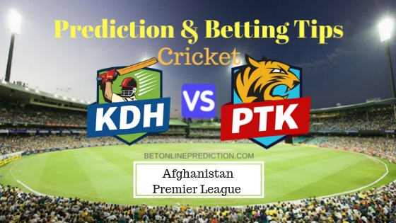 Kandahar Kings vs Paktia Royals 18th T20 Team, Team News, Winner Prediction 17th October 2018
