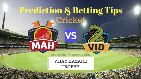 Maharashtra vs Vidarbha Round 9, Elite Group A ODI Prediction and Free Betting Tips 2nd October 2018