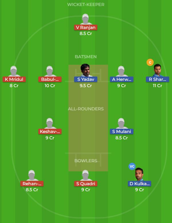 Mumbai vs Bihar 1st Quarter-Final ODI Dream11 Prediction 14th October 2018