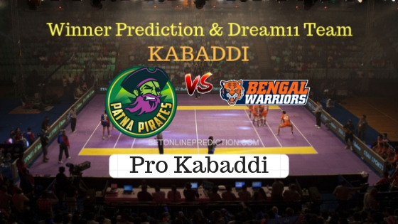Patna Pirates vs Bengal Warriors 43th Team, Team News, Winner Prediction 1st November