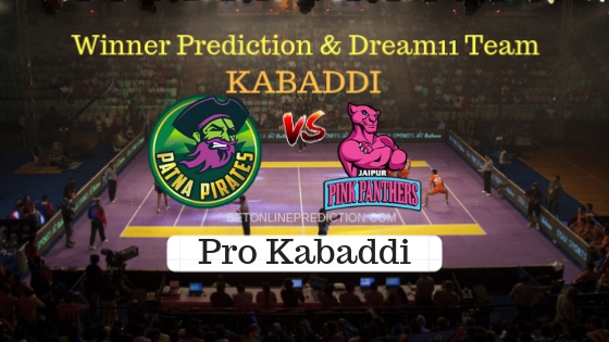 Patna Pirates vs Jaipur Pink Panthers 33th Team, Team News, Winner Prediction 26th October 2018