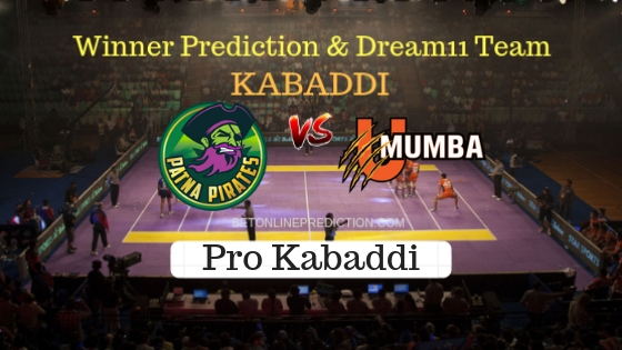 Patna Pirates vs U Mumba 36th Team, Team News, Winner Prediction 27th October 2018