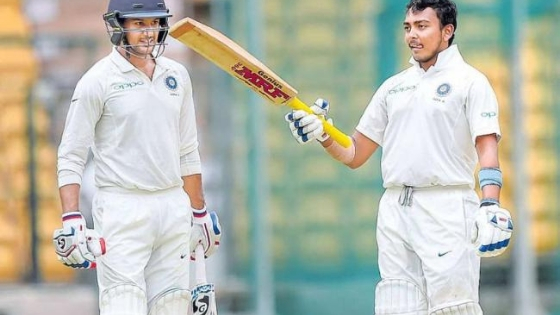 Prithvi Shaw set for Test debut in Rajkot; Mayank Agrwal