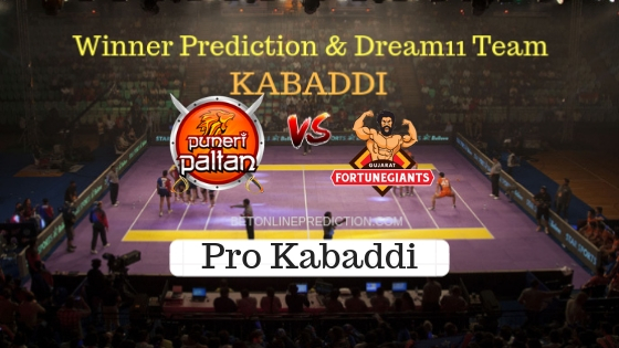 Puneri Paltan vs Gujarat Fortunegiant 39th Team, Team News, Winner Prediction 30th October 2018