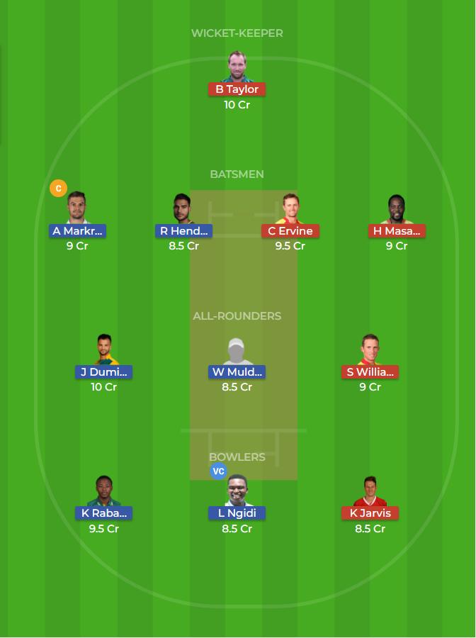 South Africa vs Zimbabwe 2nd ODI Dream11 Prediction 3rd October 2018