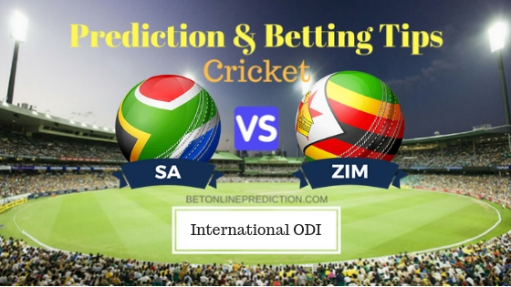 South Africa vs Zimbabwe 3rd ODI Prediction and Free Betting Tips 6th October 2018