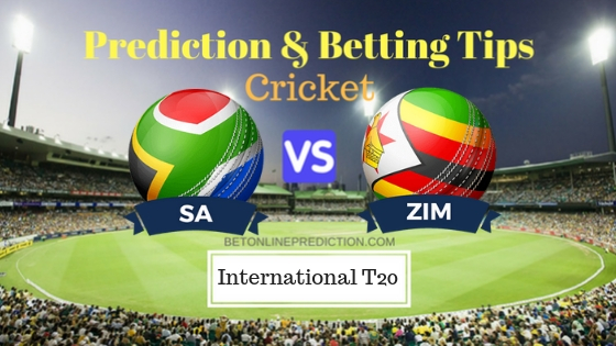 South Africa vs Zimbabwe 3rd T20 Prediction and Free Betting Tips 14th October 2018