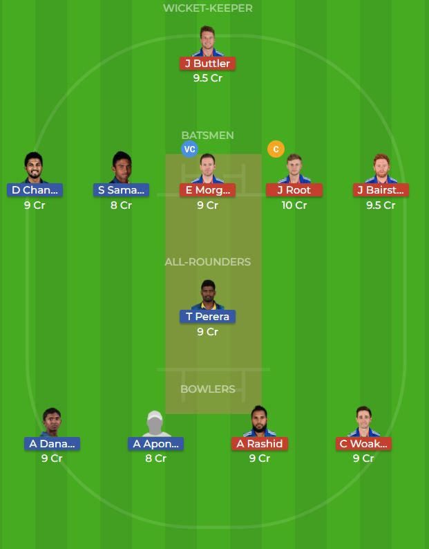 Sri Lanka vs England 4th ODI Dream11 Team, News, Winner Prediction 20th October 2018