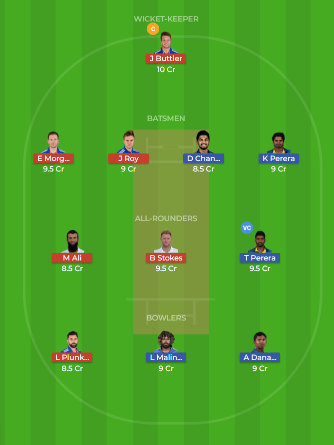 Sri Lanka vs England Only T20 Dream11 Team, Team News, Winner Prediction 27th October 2018