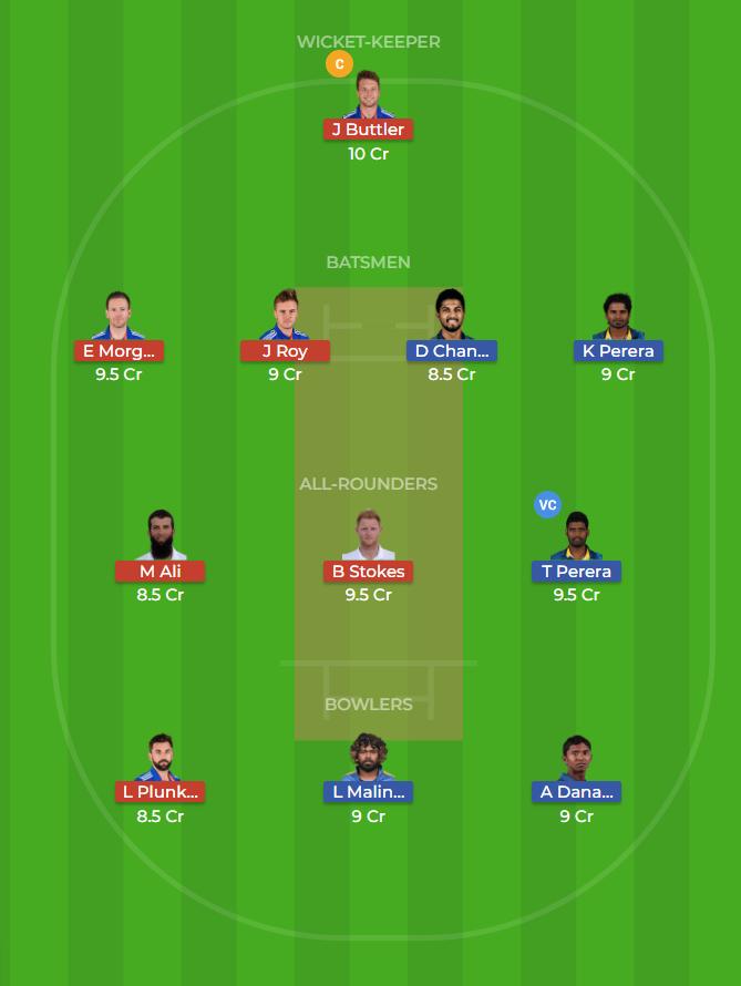 Sri Lanka vs England Only T20 Dream11 Team, Team News, Winner Prediction 27th October 2018