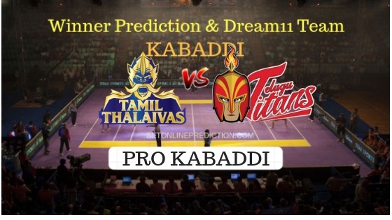 Tamil Thalaivas vs Telugu Titans Prediction and Free Betting Tips 09th October 2018