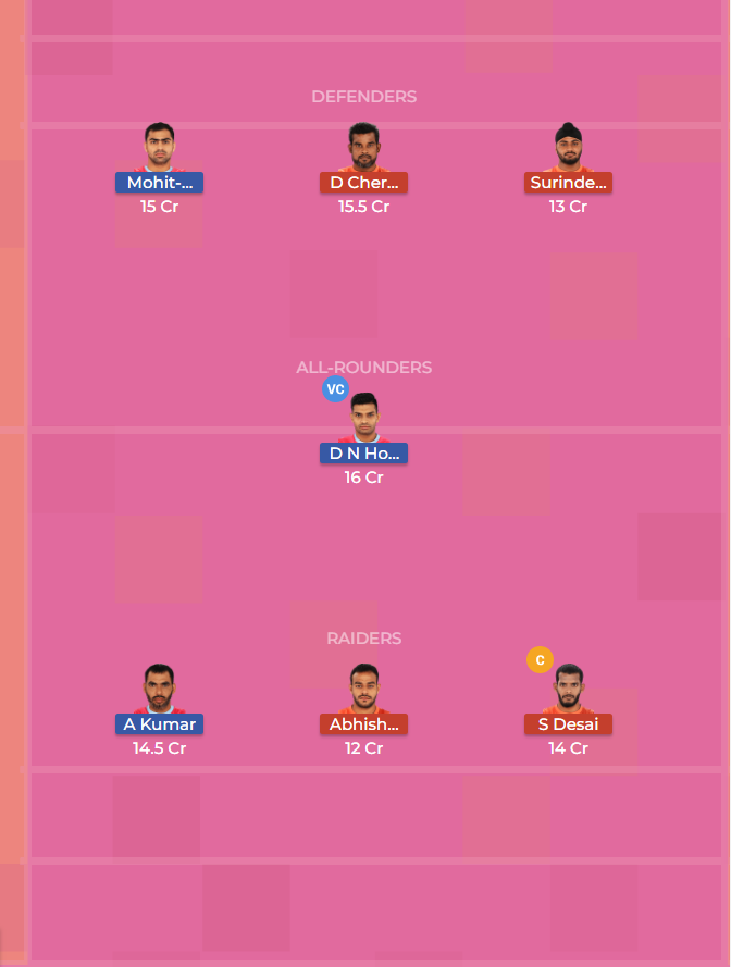 U Mumba vs Jaipur Pink Panthers Dream11 Prediction 10th October2018