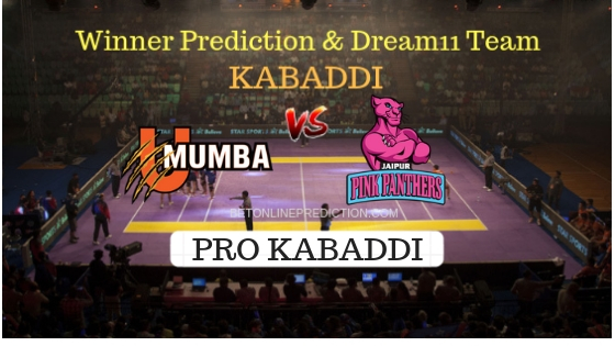 U Mumba vs Jaipur Pink Panthers Prediction and Free Betting Tips 10th October2018