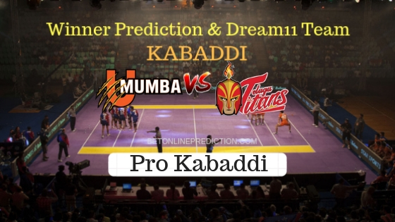 U Mumba vs Telugu Titans 29th Team, Team News, Winner Prediction 23th October 2018