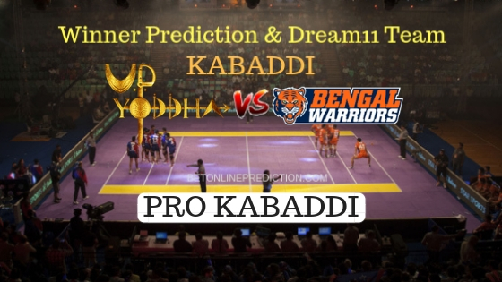 UP Yoddha vs Bengal Warriors 25th Team, Team News, Winner Prediction 20th October 2018