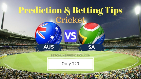 Australia vs South Africa Only T20 Team, Team News, Winner Prediction 17th November 2018