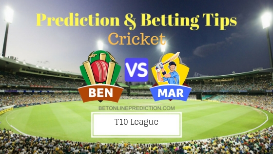 Bengal Tigers vs Maratha Arabians 7th T10 Team, Team News, Winner Prediction 23th November 2018